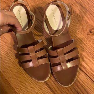 Brown sandals, ribber sole, Etienne Aigner